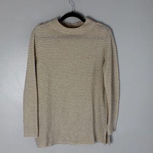 Tan mock-neck sweater